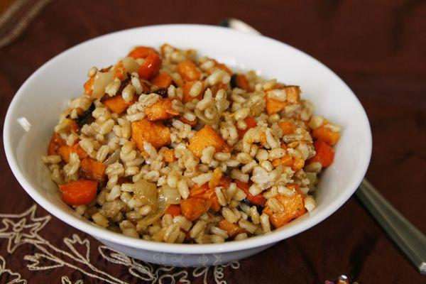 Roasted Vegetable Barley Salad with Lemon Vinaigrette | Recipe