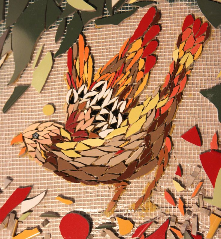 The garden wall mosaic is a community project in progress for Garden wall mosaic designs