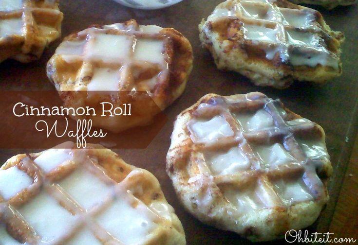 Cinnamon Roll Waffles! | Recipes I'd like to try | Pinterest