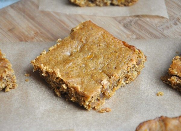 Sweet Potato Peanut Butter Blondies. Apparently blondies can be made ...