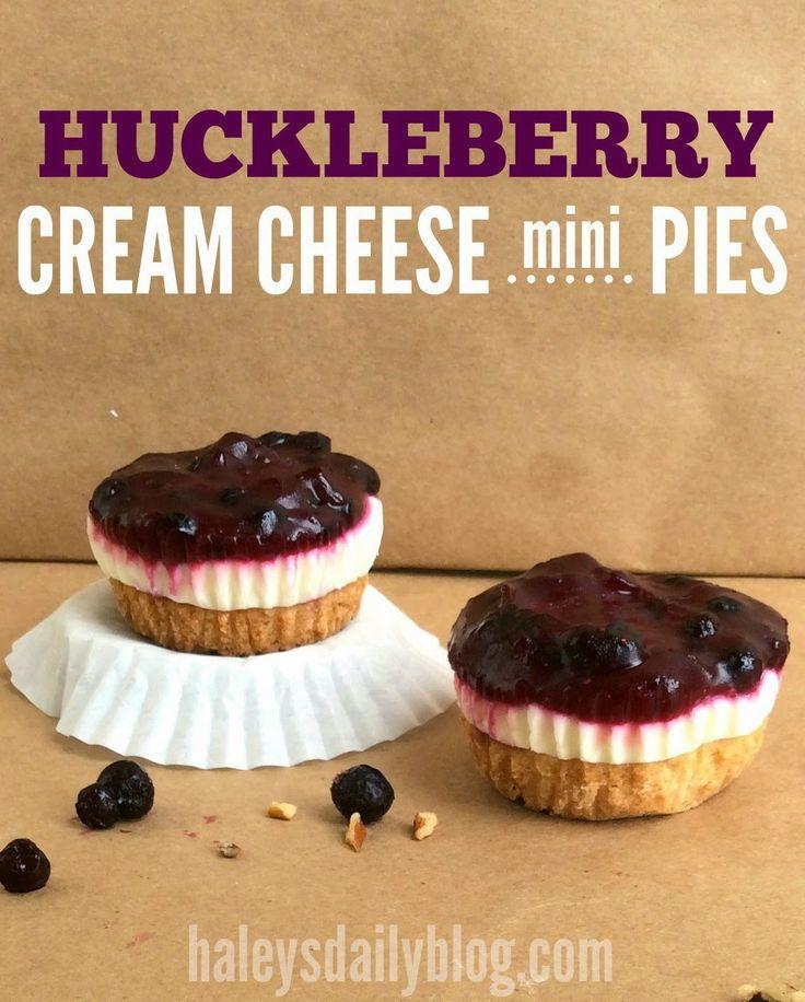 huckleberry cream cheese mini pies w/ pecan shortbread crust! made ...