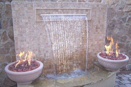 Fire And Water Feature Outdoor Living Pinterest
