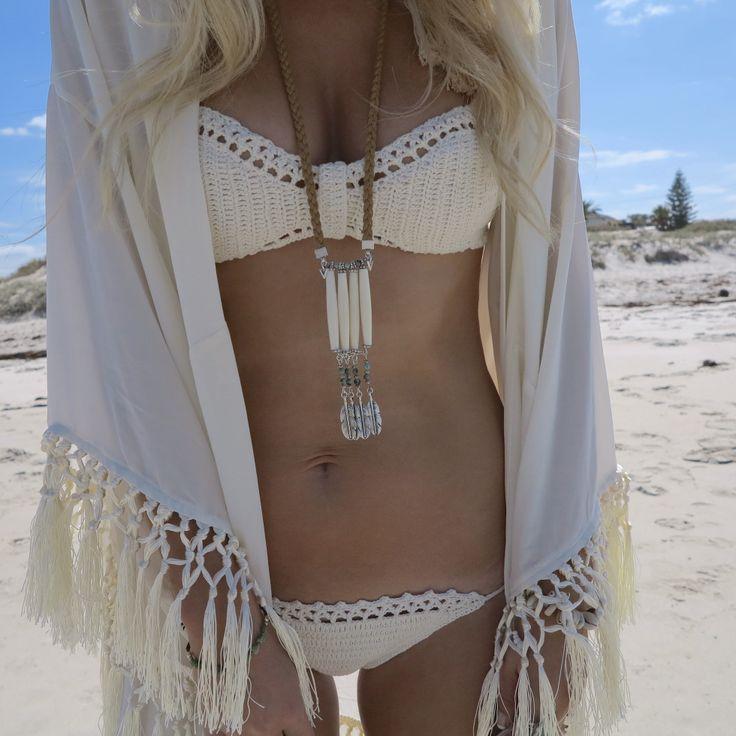 Gorgeous crochet bikini #women #fashion #clothing