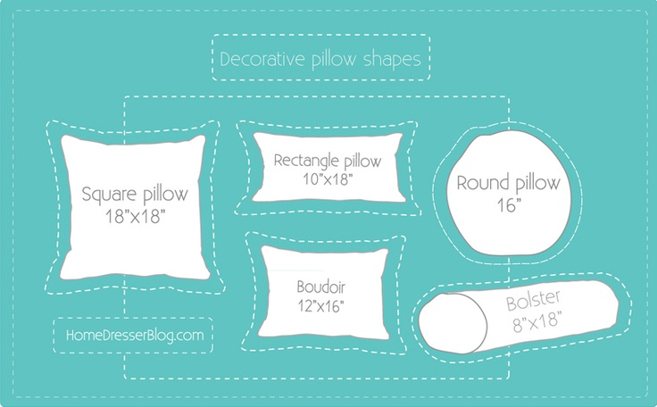 Types Of Decorative Pillow Shapes : throw pillow shapes crafty Pinterest