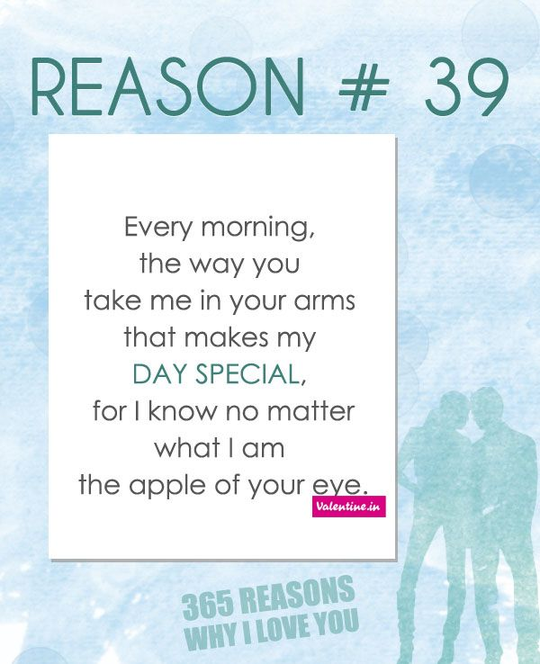 365 Reasons Why I Love You Quotes : Reasons why I love you # 39 365 Love Quotes for Him Pinterest