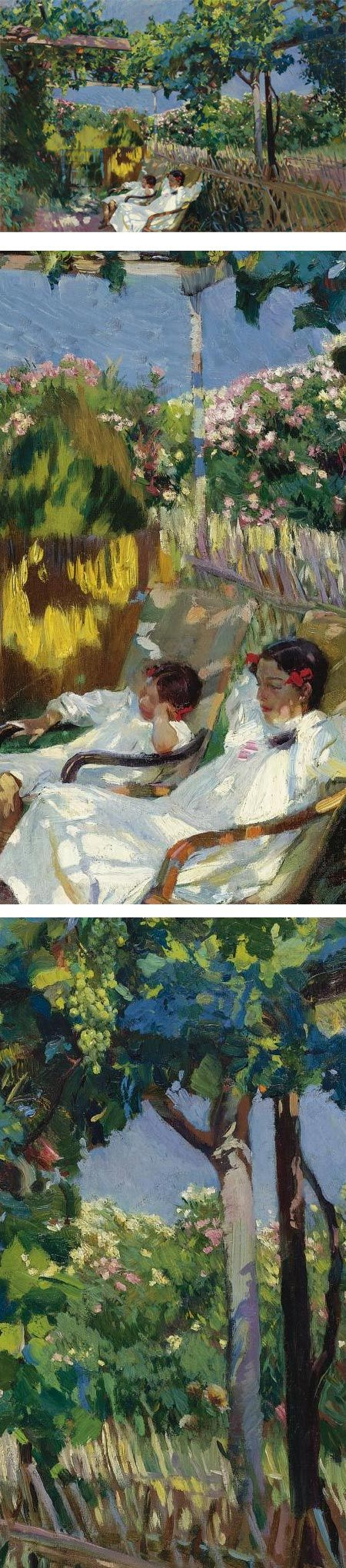La Siesta en el Jardin, Joaquin Sorolla y Bastida