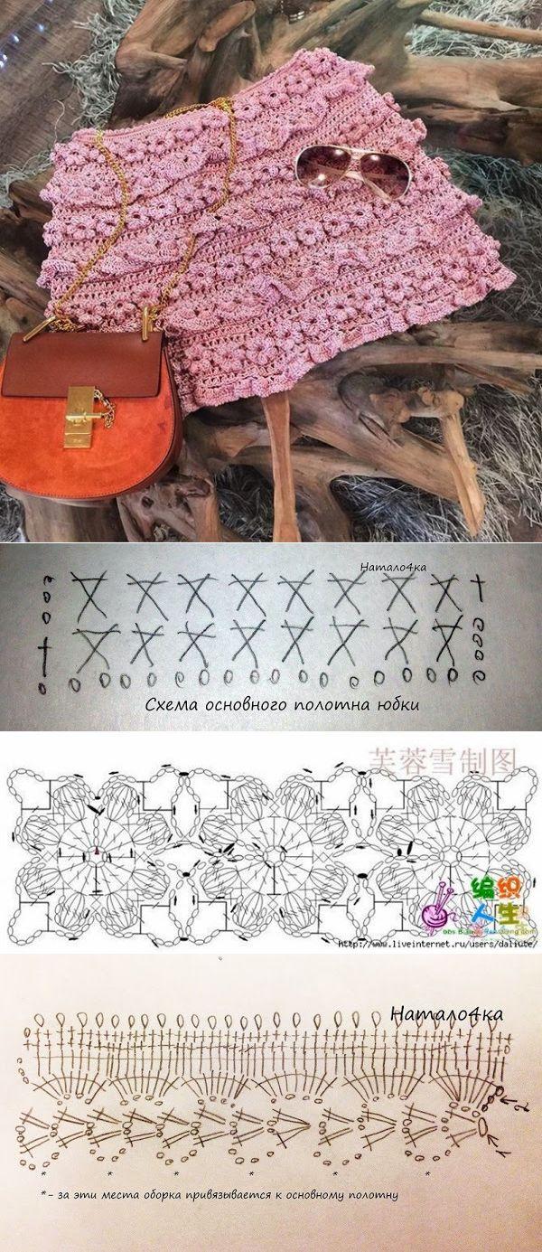 Вязание спицами простая сетка