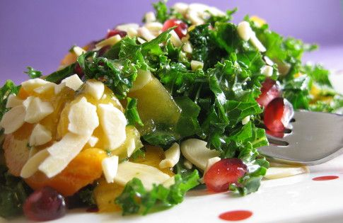 Chopped Kale & Pomegranate Salad — I'm actually craving a good salad ...