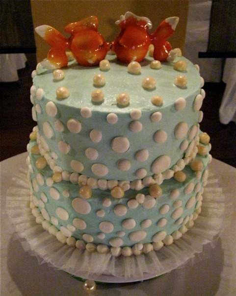 Cute beach-theme rehearsal dinner cake Cakes/Desserts ...
