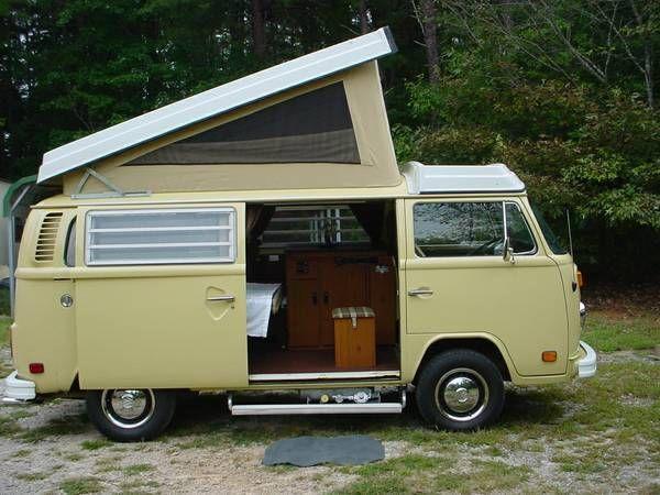 Vintage vw camper bus