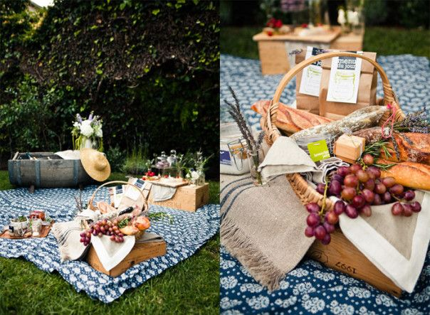 Wedding Gift Picnic Basket Ideas : of a traditional gift basket, try filling a beautiful picnic basket ...