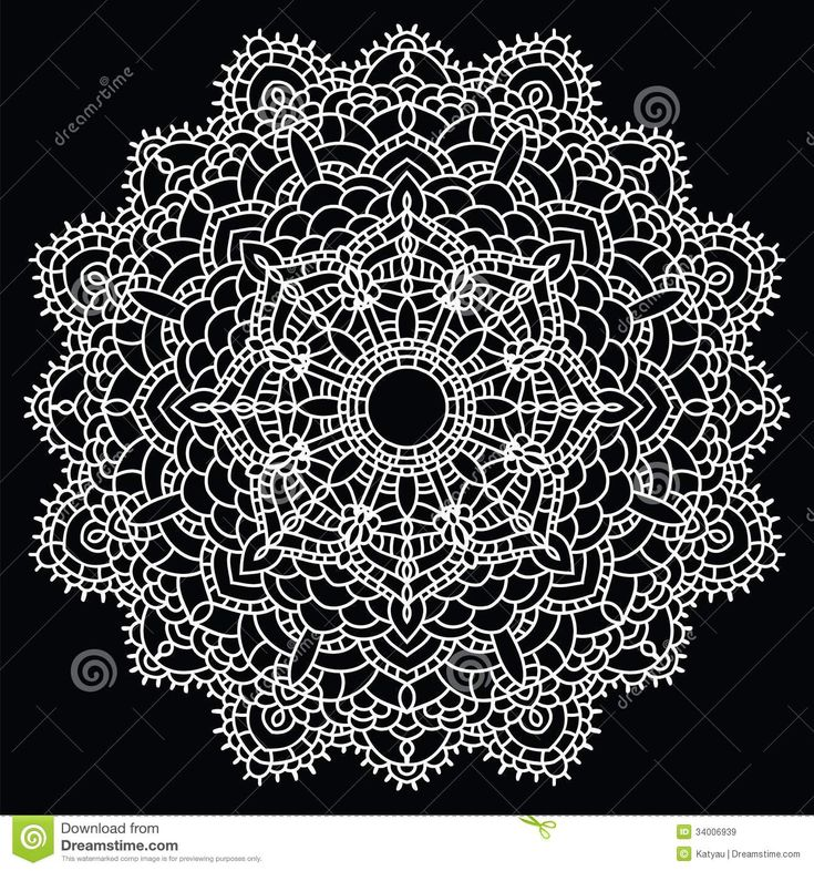 Crochet Patterns Vector : Patterns ... handmade knitted doily. Round lace pattern. Vector ...
