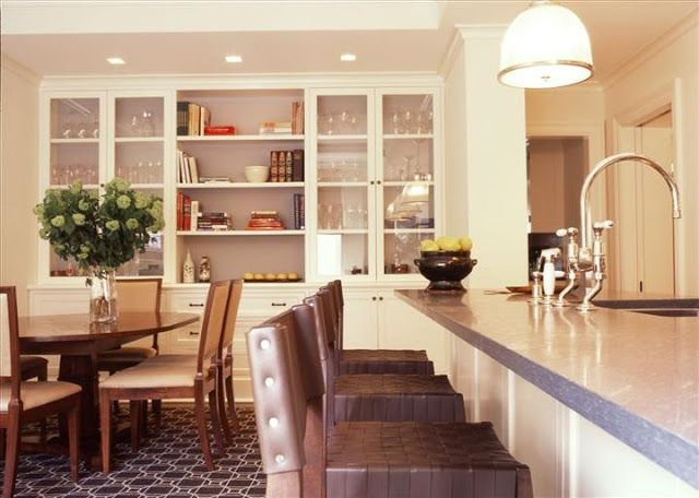 Built in buffet for dining room dining room pinterest for Built in dining room buffet ideas