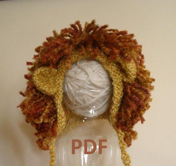 Lion hat pattern! on Etsy. Crochet Pinterest