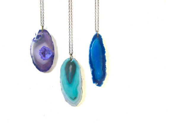 Agate Necklaces - by mintlilly, $24.00