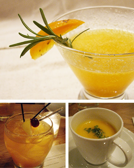 persimmon rosemary bellini | Autumn Colors and Foods | Pinterest