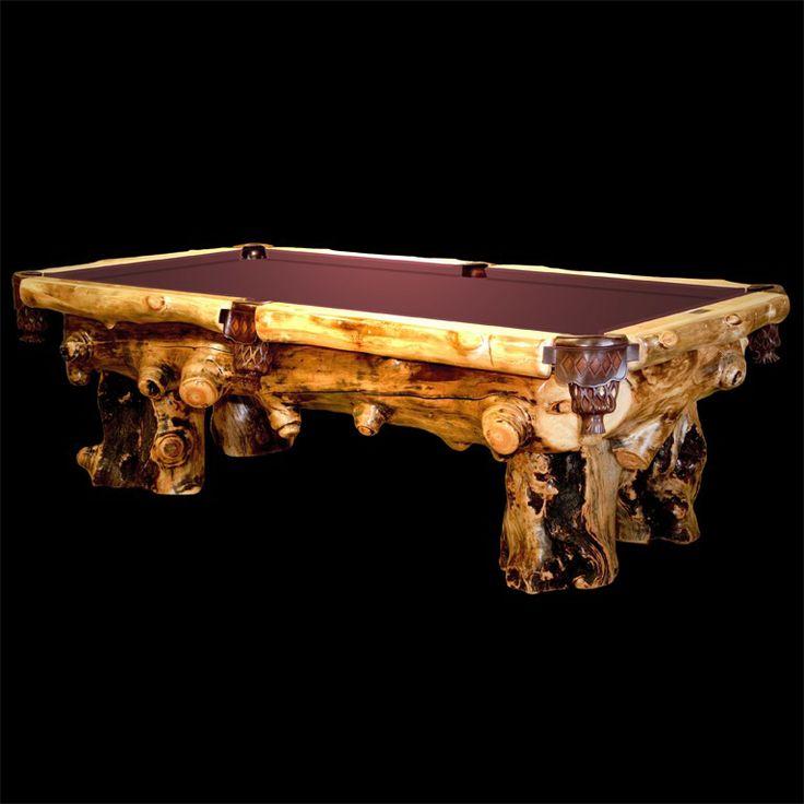 Aspen Lodge Rustic Pool Table