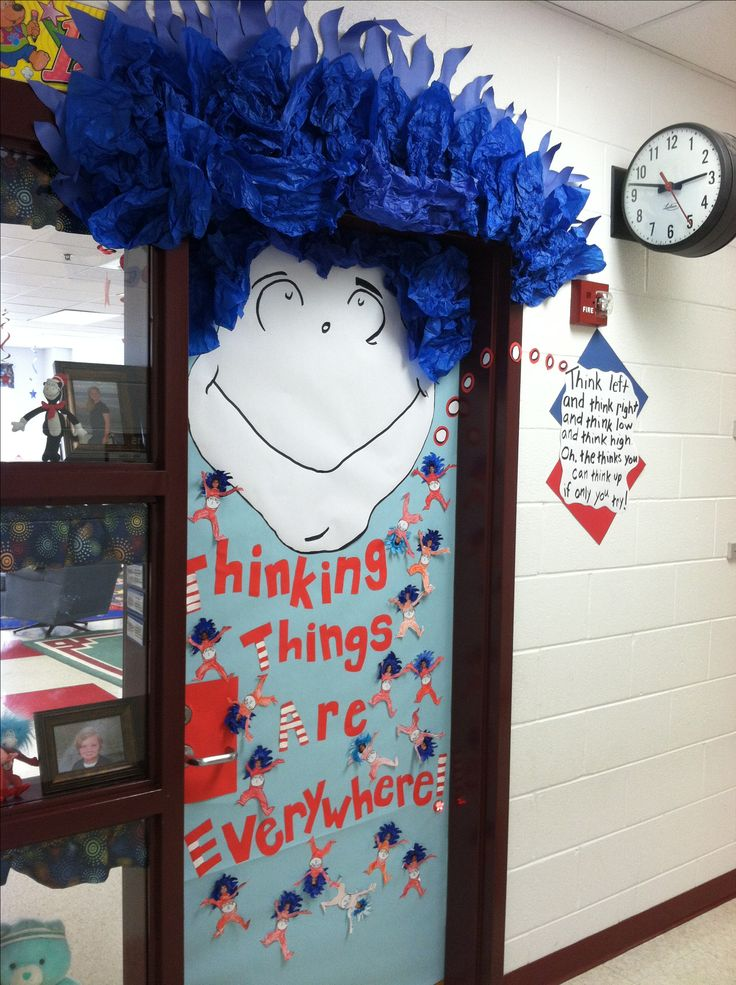 My Classroom Door For Dr Seuss Day School Ideas Pinterest
