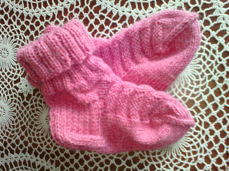 Вязание спицами красивых детских носочков 37