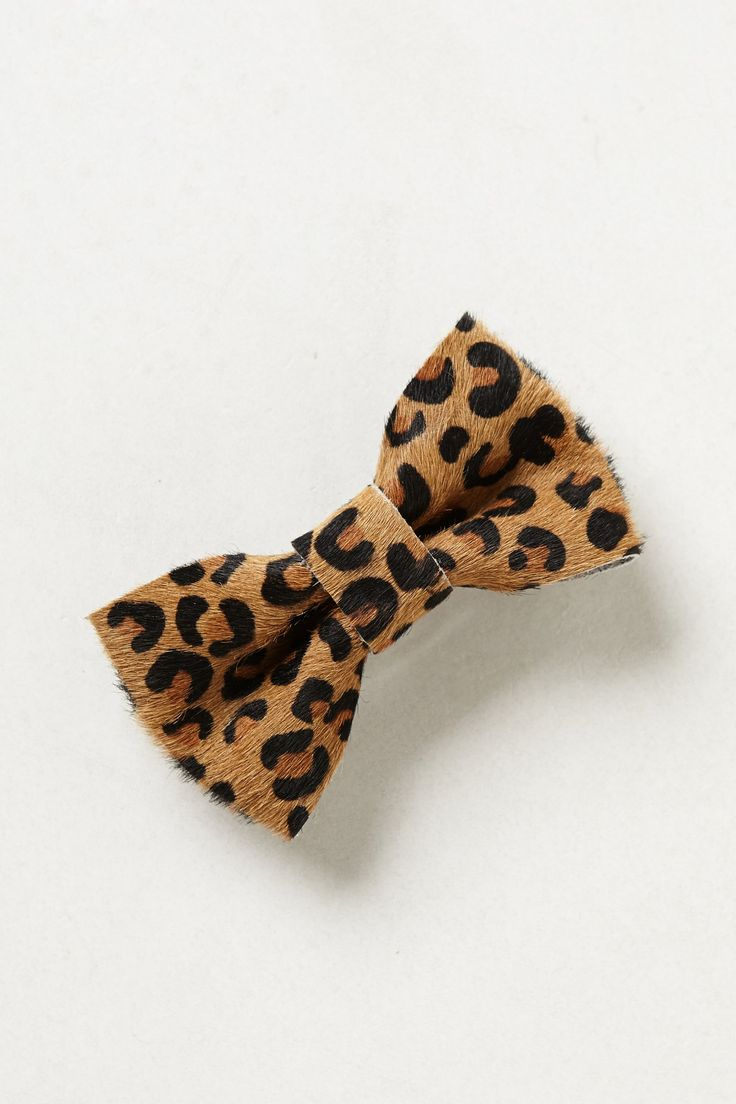 Spotted Leopard Bow Clip - Anthropologie.com