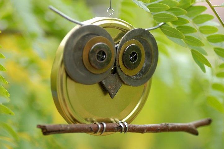 Jar Lid Owls