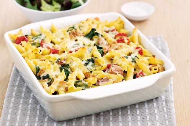 Tuna and pesto pasta bake. | THE YUM FILES | Pinterest