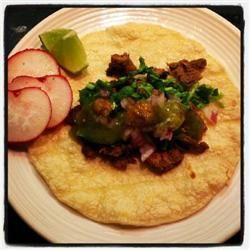 Taqueria Style Tacos - Carne Asada | Tacos | Pinterest