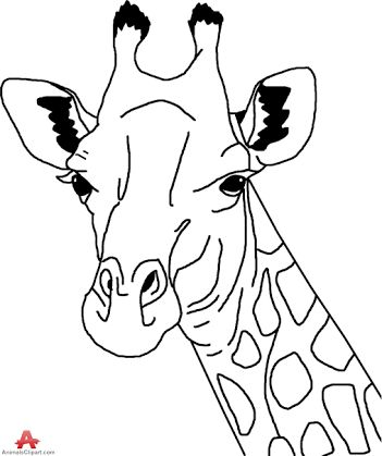 Giraffe head outline