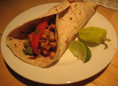 Quest For Health & Wellness: Roasted Chickpea Fajitas