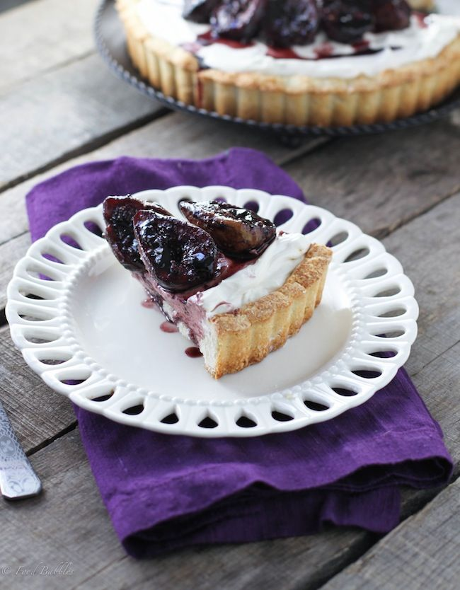 Mascarpone & Roasted Fig Tart - FoodBabbles.com
