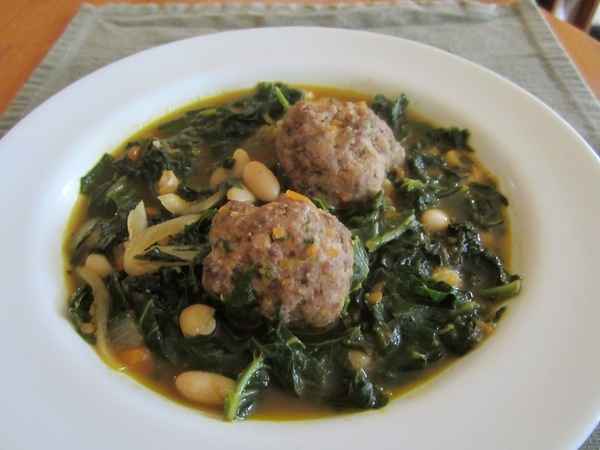 Kale, Collard, Chard and Meatball Soup. Healthy and hearty - love ...