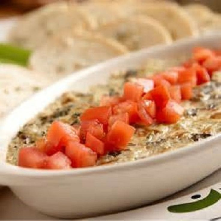 Olive Garden * HOT ARTICHOKE SPINACH DIP ** grilled bread for dipping ...