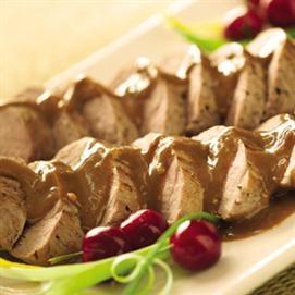 Pork Tenderloins with Asian Peanut Sauce | Recipe