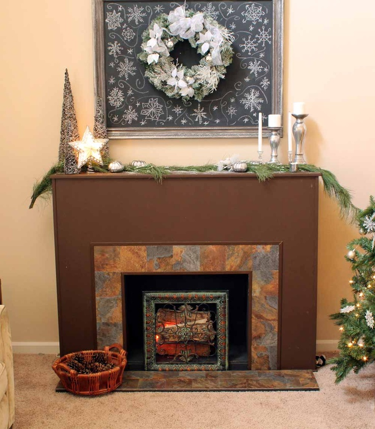 DIY Faux Fireplace This Is Awesome DIY Pinterest
