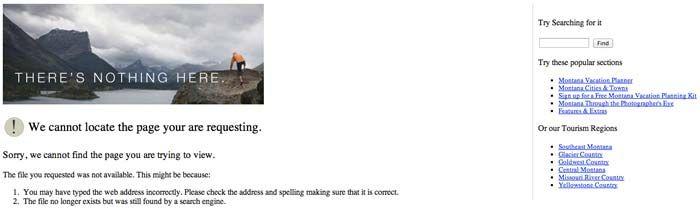 提供資訊給予使用者 (404頁面)