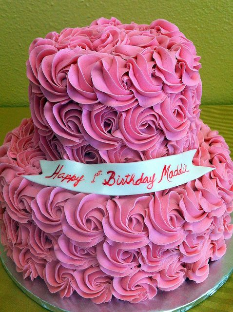 Images Of Birthday Cake And Roses : Pink roses birthday cake Happy Birthday Pinterest