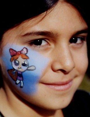 04 powerpuff girl face paint.jpg (310×400)