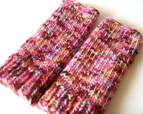 Loom Knitting Pattern For Fingerless Gloves : Loom Knit - fingerless gloves on 24 peg round loom