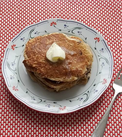 Cinnamon Apple Walnut Pancakes Recipe — Dishmaps