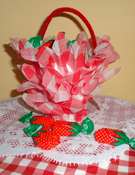 Red Gingham Centerpieces : Gingham favors red white check party wedding th of