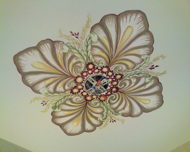 Hand Painted Ceiling  Medallion. $349.00, via Etsy.
