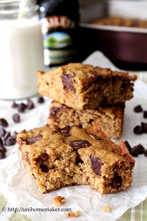 Baileys Chocolate Chunk Cookie Bars | Yum | Pinterest