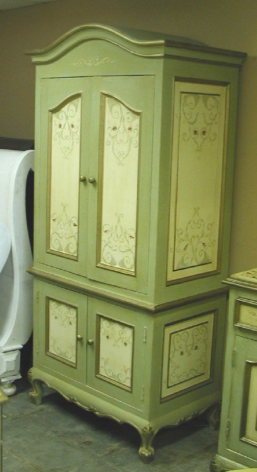 Hand Painted Armoire Painted Furniture Pinterest