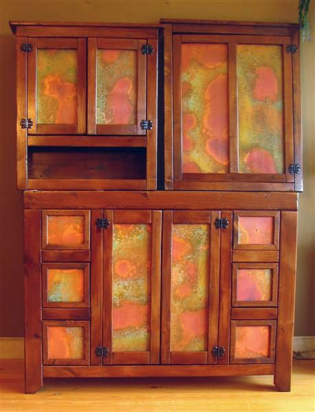 Naturally Aged Copper Sheets  Great cabinets with Rojo Patina Copper