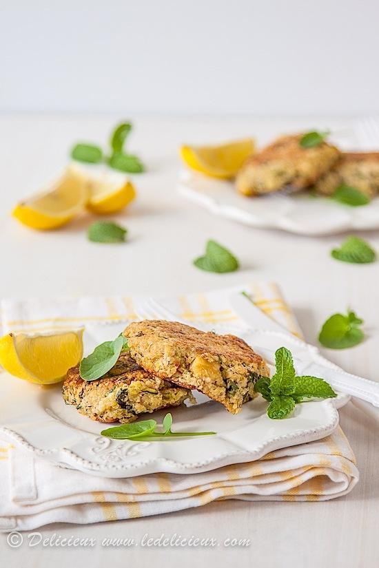 Zucchini and Haloumi Quinoa Patties | Recipe