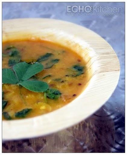 Methi Dal (Fenugreek Leaves in Lentil Soup)