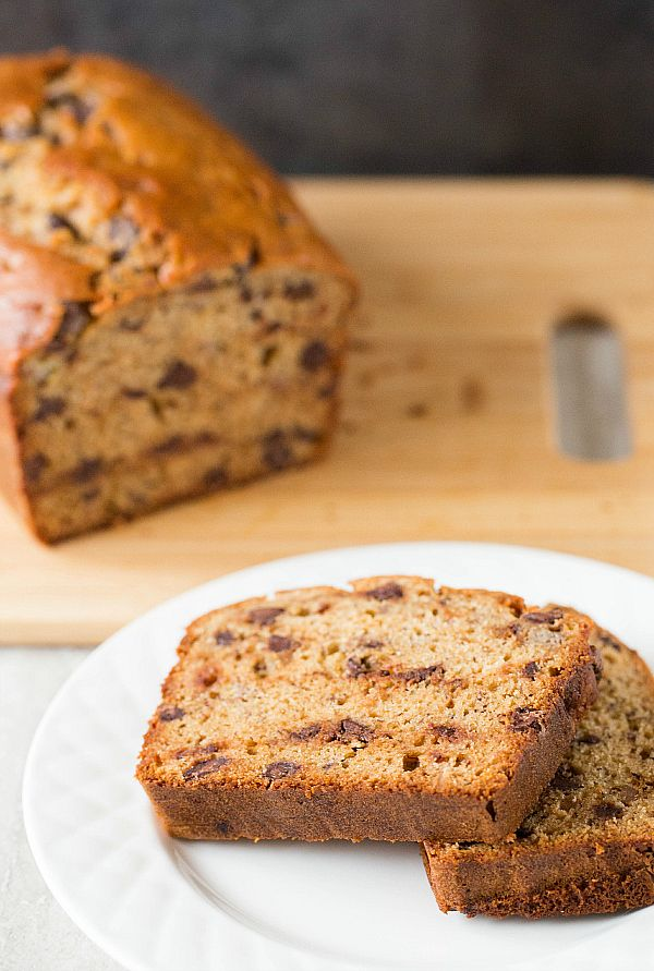 Peanut Butter-Banana Bread with Chocolate Chips | Recipe