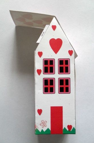 printable heart houses