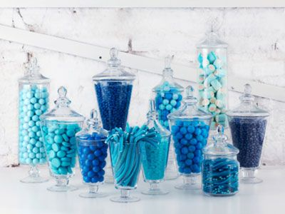 candy bar de colores arcoiris
