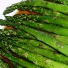 Baked Asparagus with Balsamic Butter Sauce...yum! Imagine this with a ...